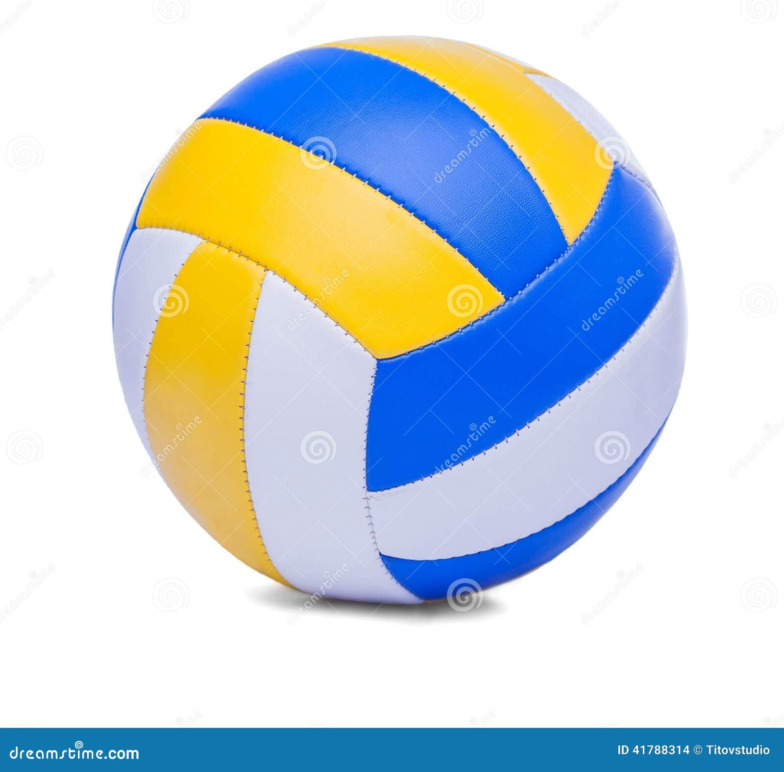 b9db9ab1a Bola Do Voleibol Isolada Em Um Branco Foto de Stock - Imagem de ...