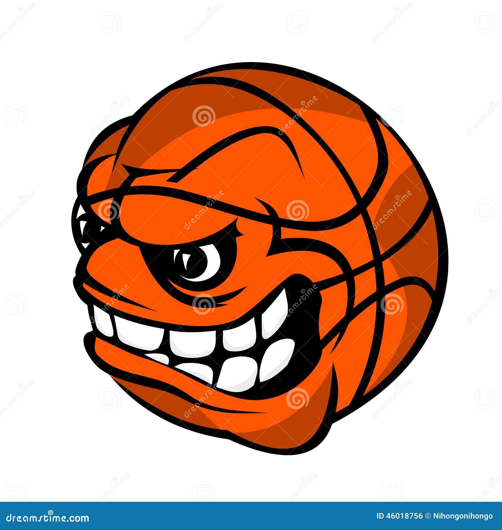 bola dos desenhos animados do basquetebol ilustração do vetor