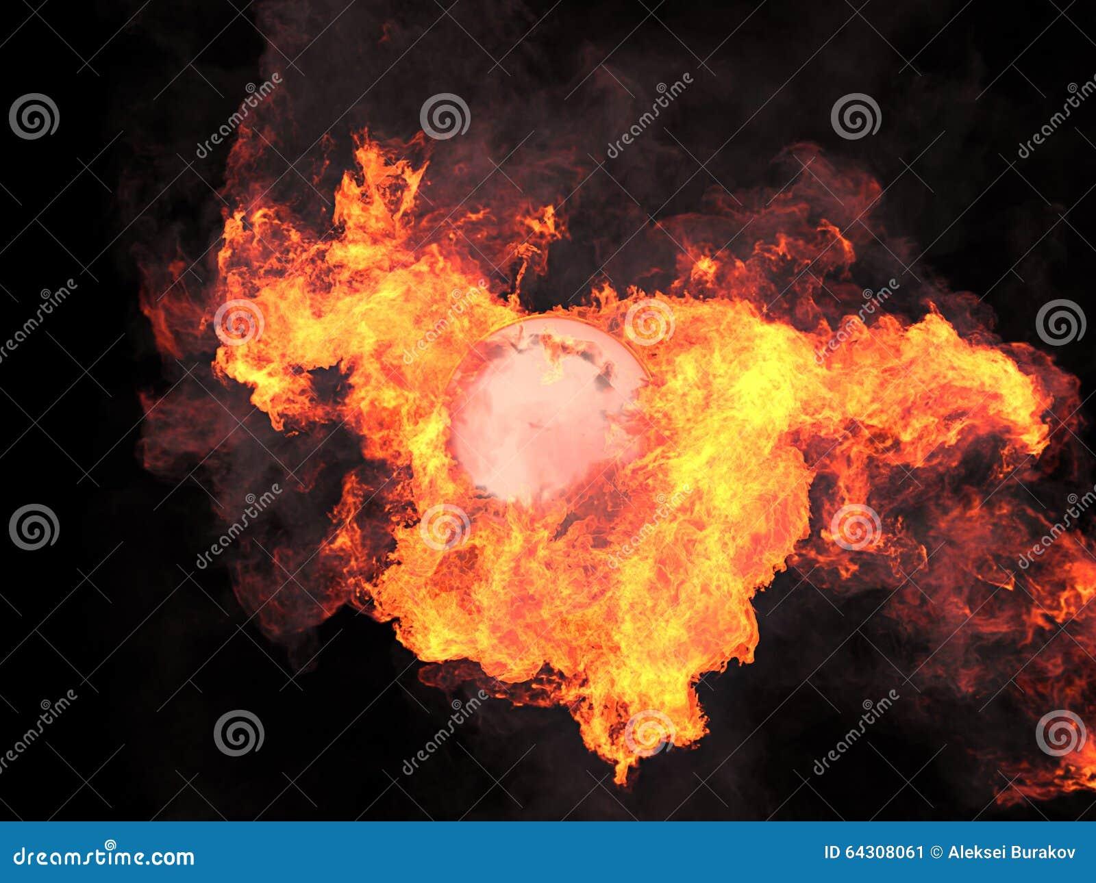 Bola en fuego