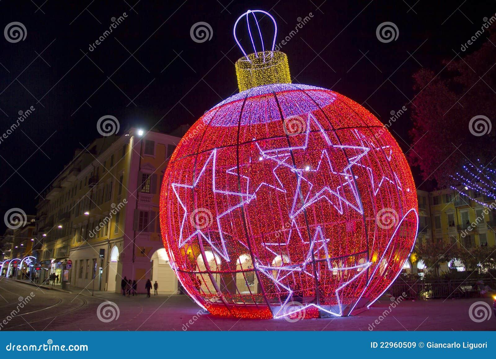 Bola en niza francia de la navidad - Bolas gigantes de navidad ...