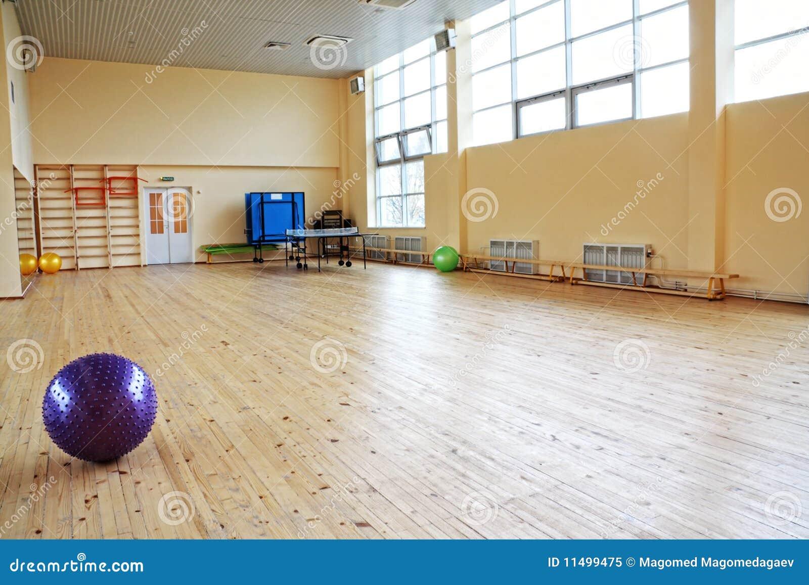 Bola púrpura en gimnasia vacía