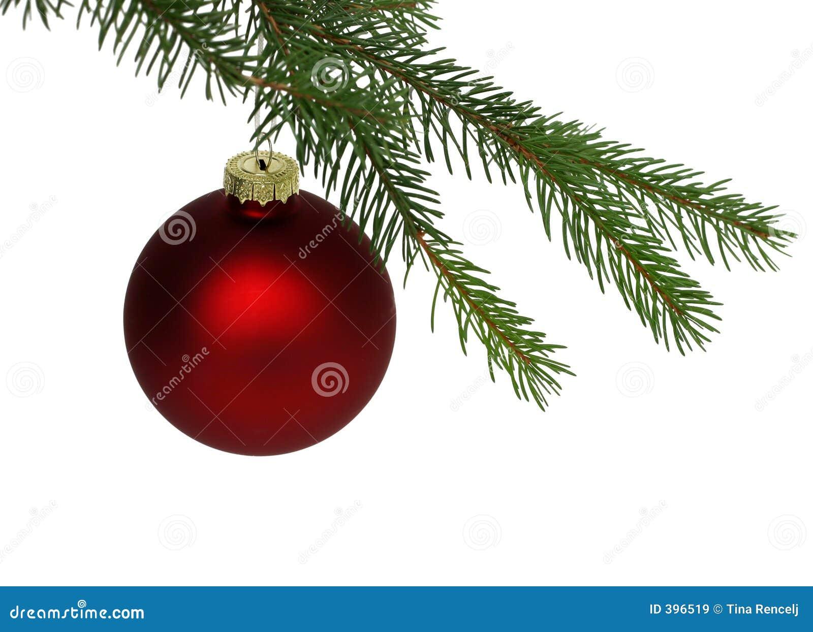 Bola roja de la navidad imagen de archivo imagen de for Arbol de navidad con bolas rojas
