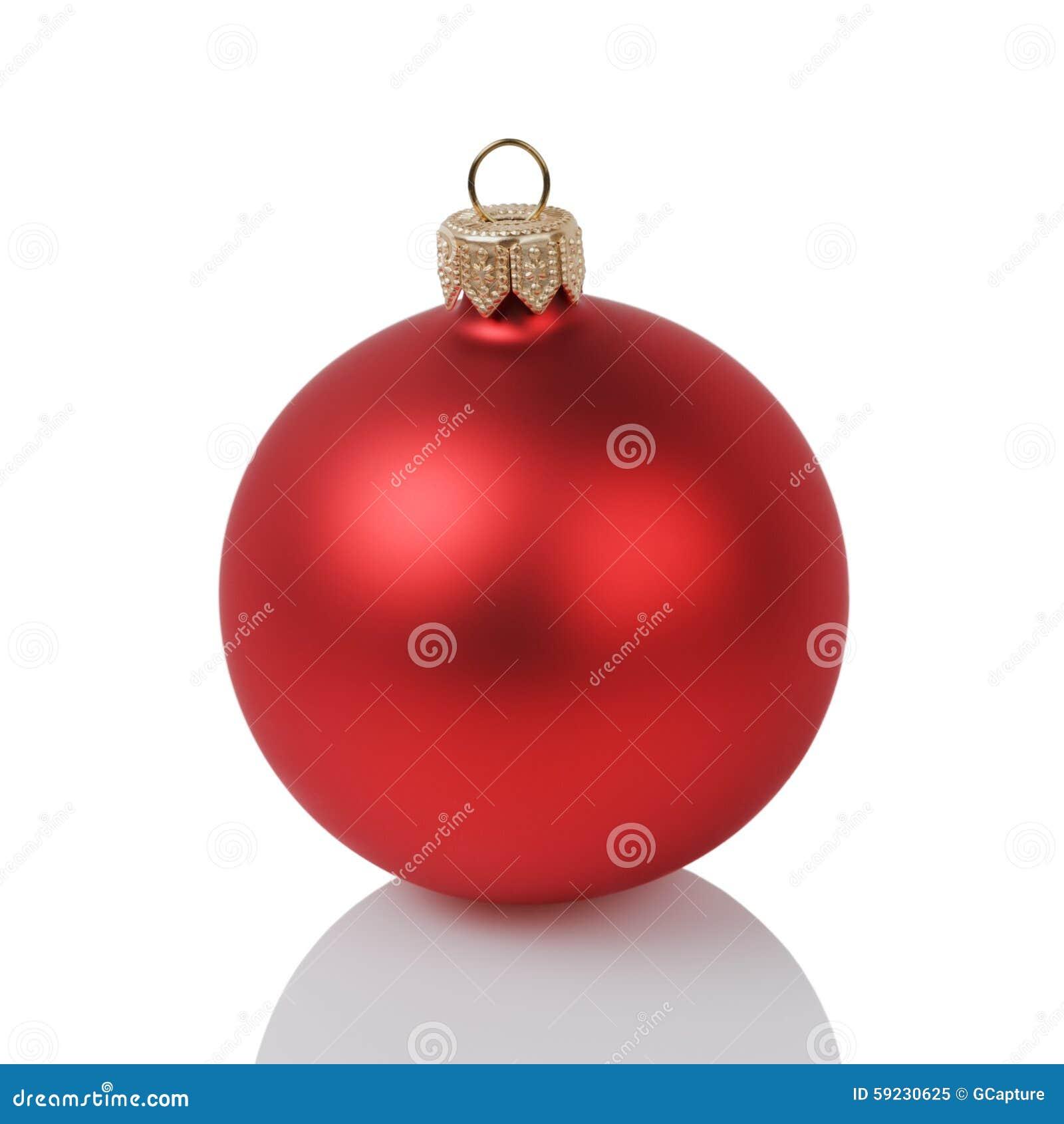 Download Bola Roja De La Navidad Aislada En Blanco Imagen de archivo - Imagen de holiday, diciembre: 59230625