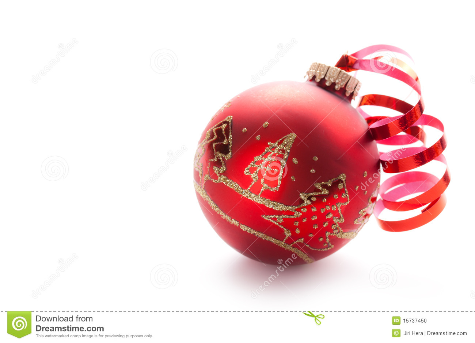 Bola roja de navidad foto de archivo imagen de cristal 15737450 - Fotos de bolas de navidad ...