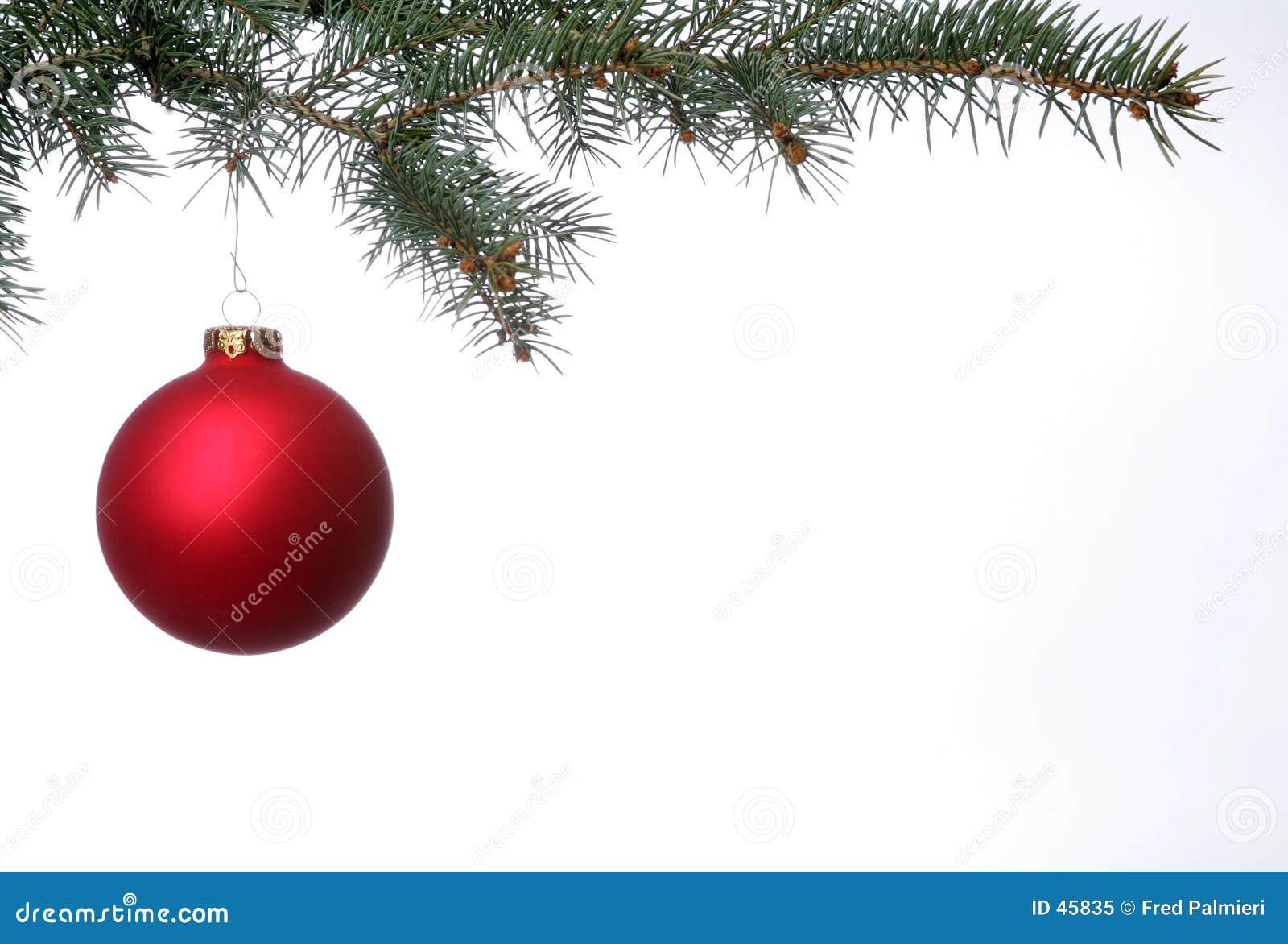 Bola roja mate de la Navidad