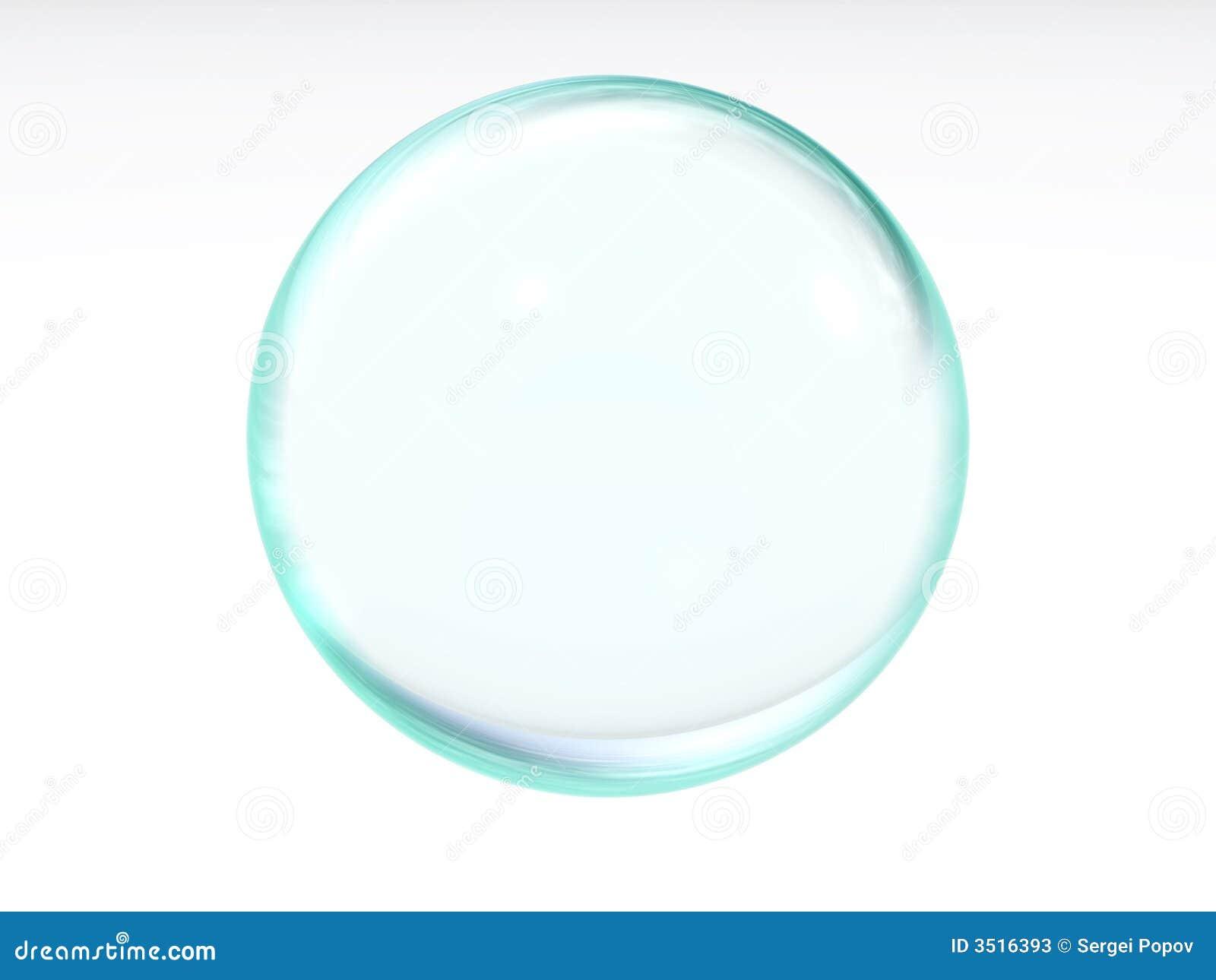 Bola transparente azul