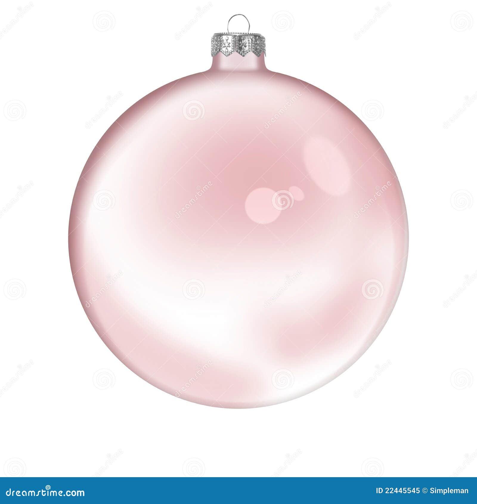 Bola transparente de cristal roja de la navidad foto de - Bolas navidad transparentes ...