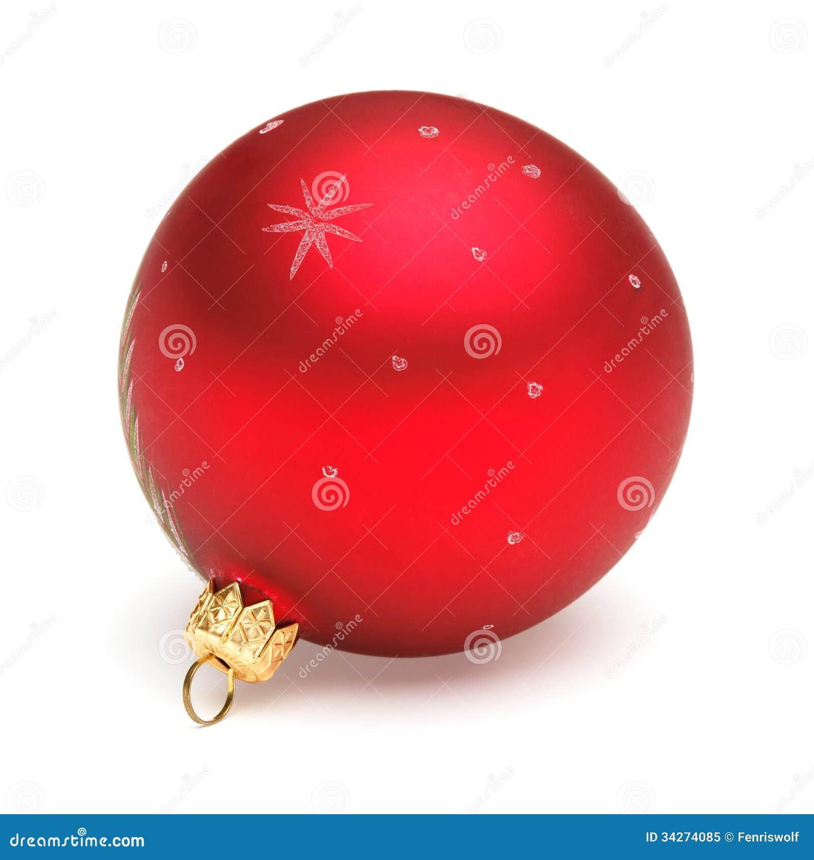 decoracao arvore de natal vermelha:Bola Vermelha Do Natal Foto de Stock Royalty Free – Imagem: 34274085