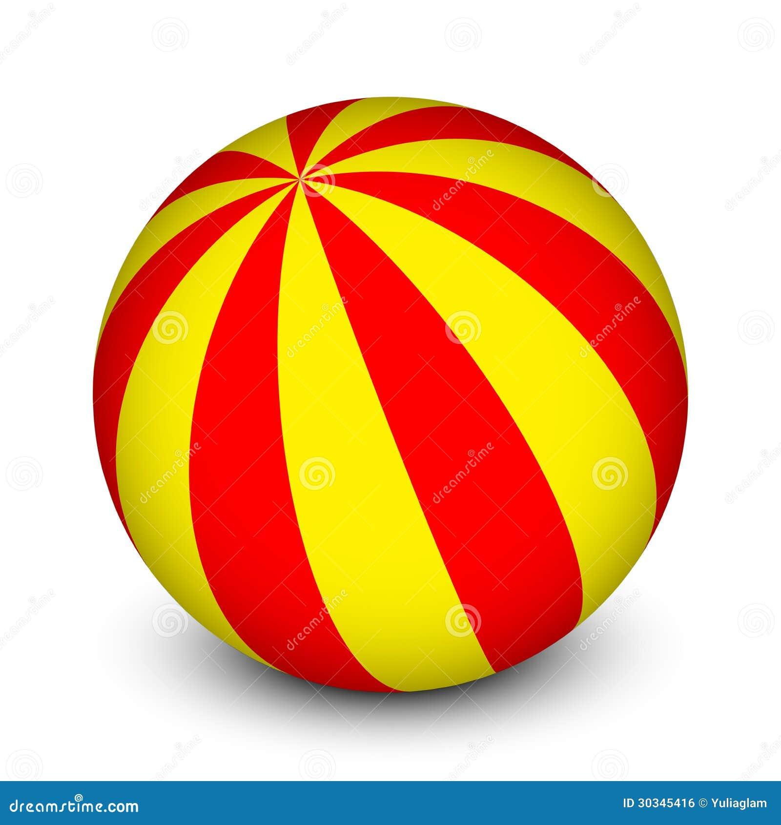 Bola Vermelha E Amarela Imagem de Stock Royalty Free ...
