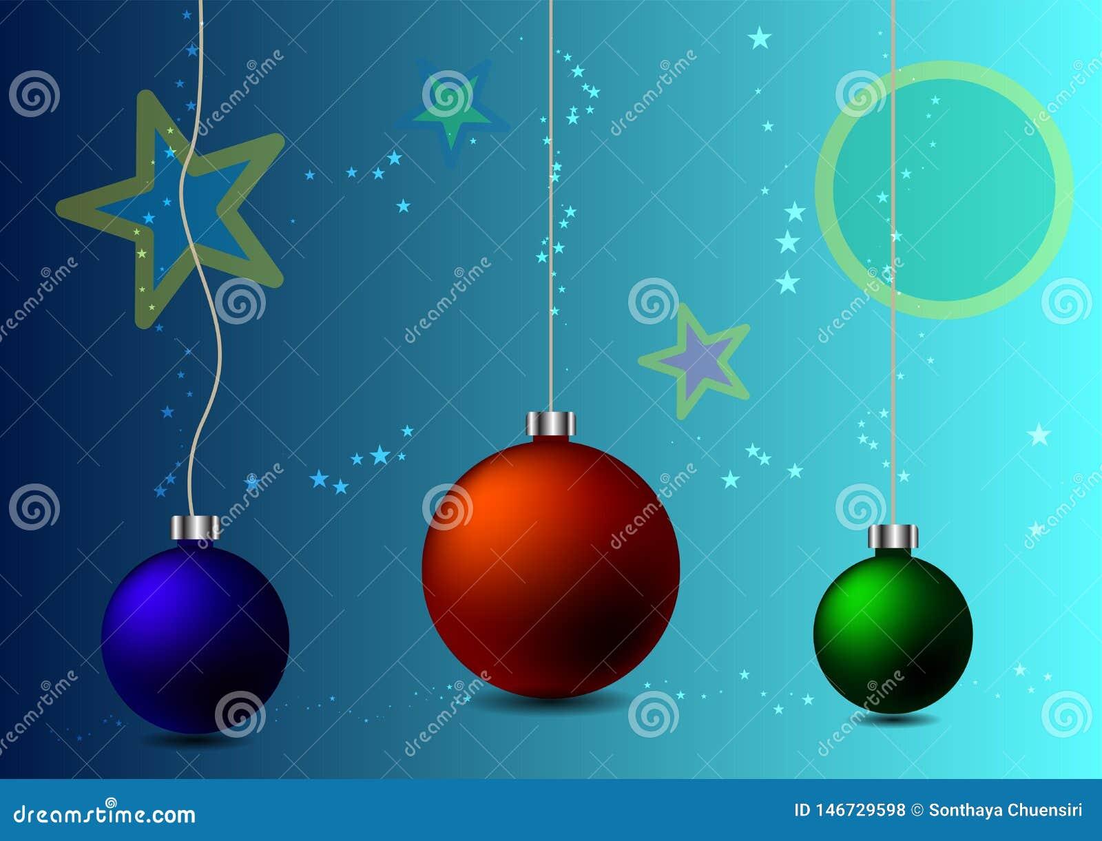 Bolas abstractas de la Navidad del fondo