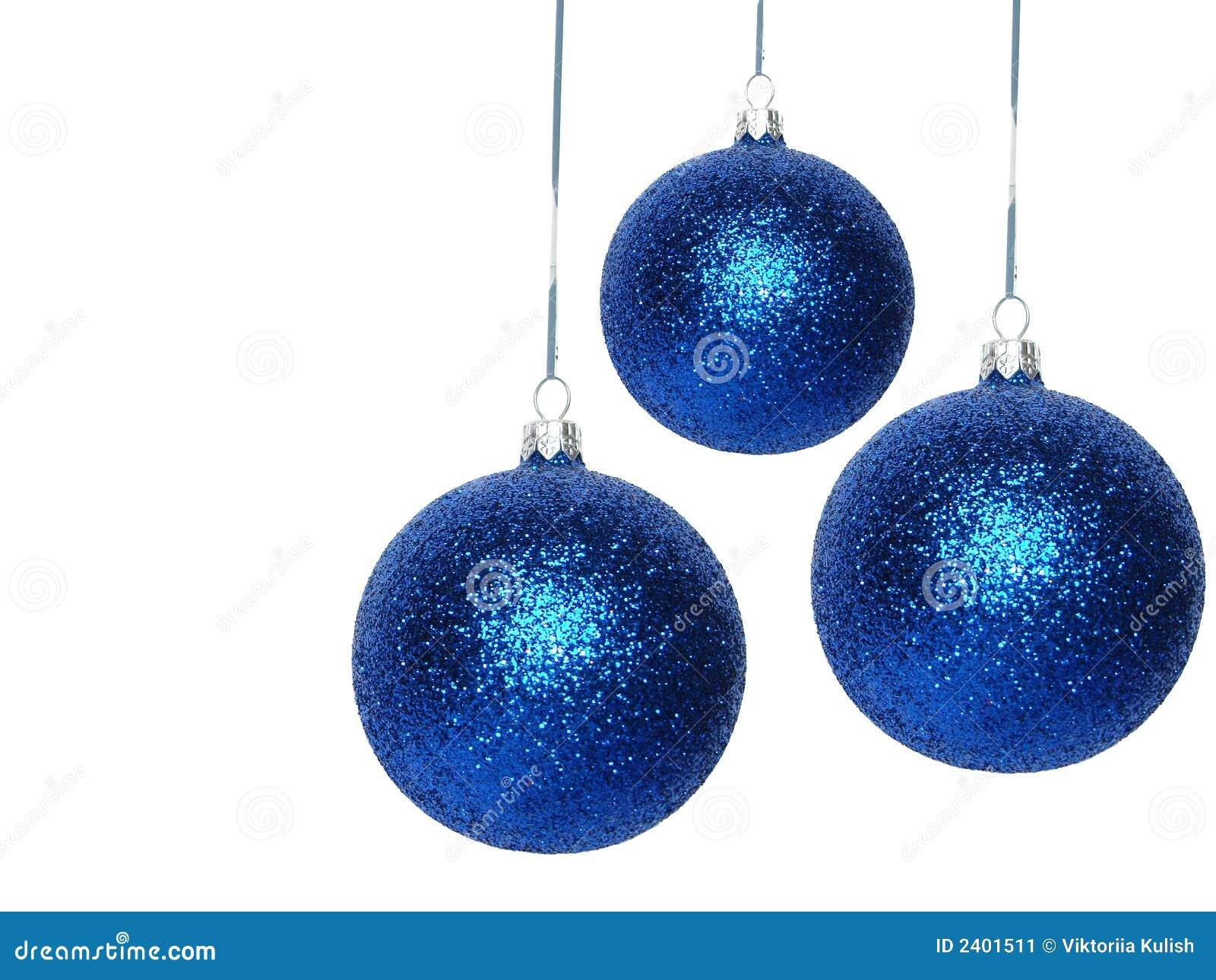 Bolas azules de la navidad imagen de archivo imagen 2401511 for Dibujos de navidad bolas