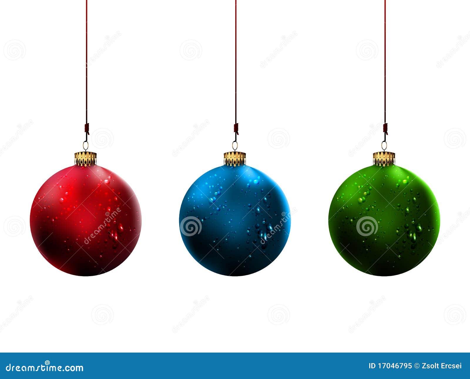 Bolas brillantes de la navidad ilustraci n del vector for Dibujos de navidad bolas