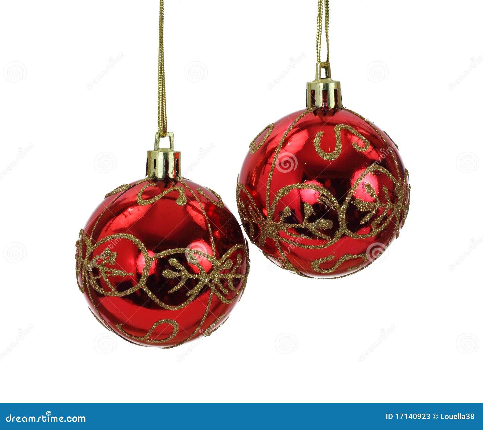 Bolas colgantes del rbol de navidad del rojo y del oro - Arbol de navidad de bolas ...