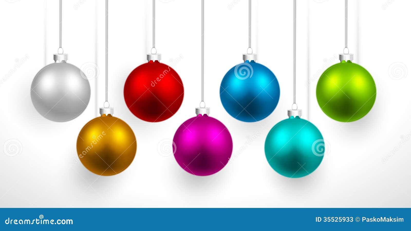 Bolas coloreadas la Navidad
