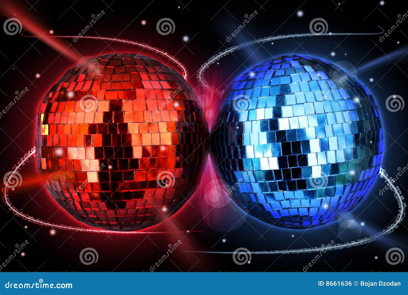 Bolas coloridas del disco
