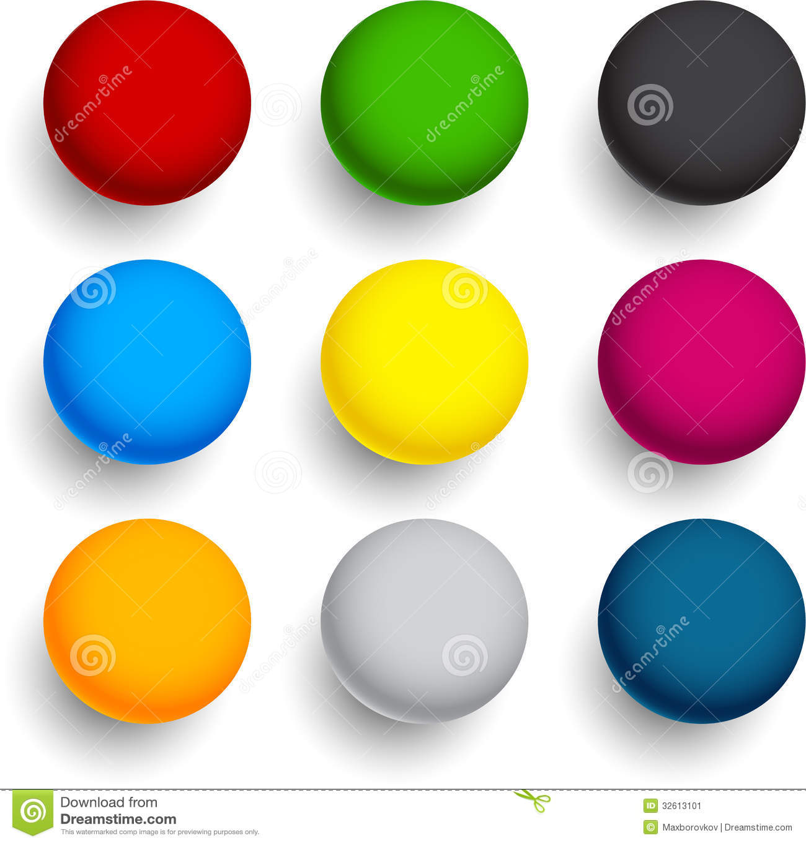 Bolas coloridas redondas ilustra o do vetor imagem de for Bolas para piscina de bolas