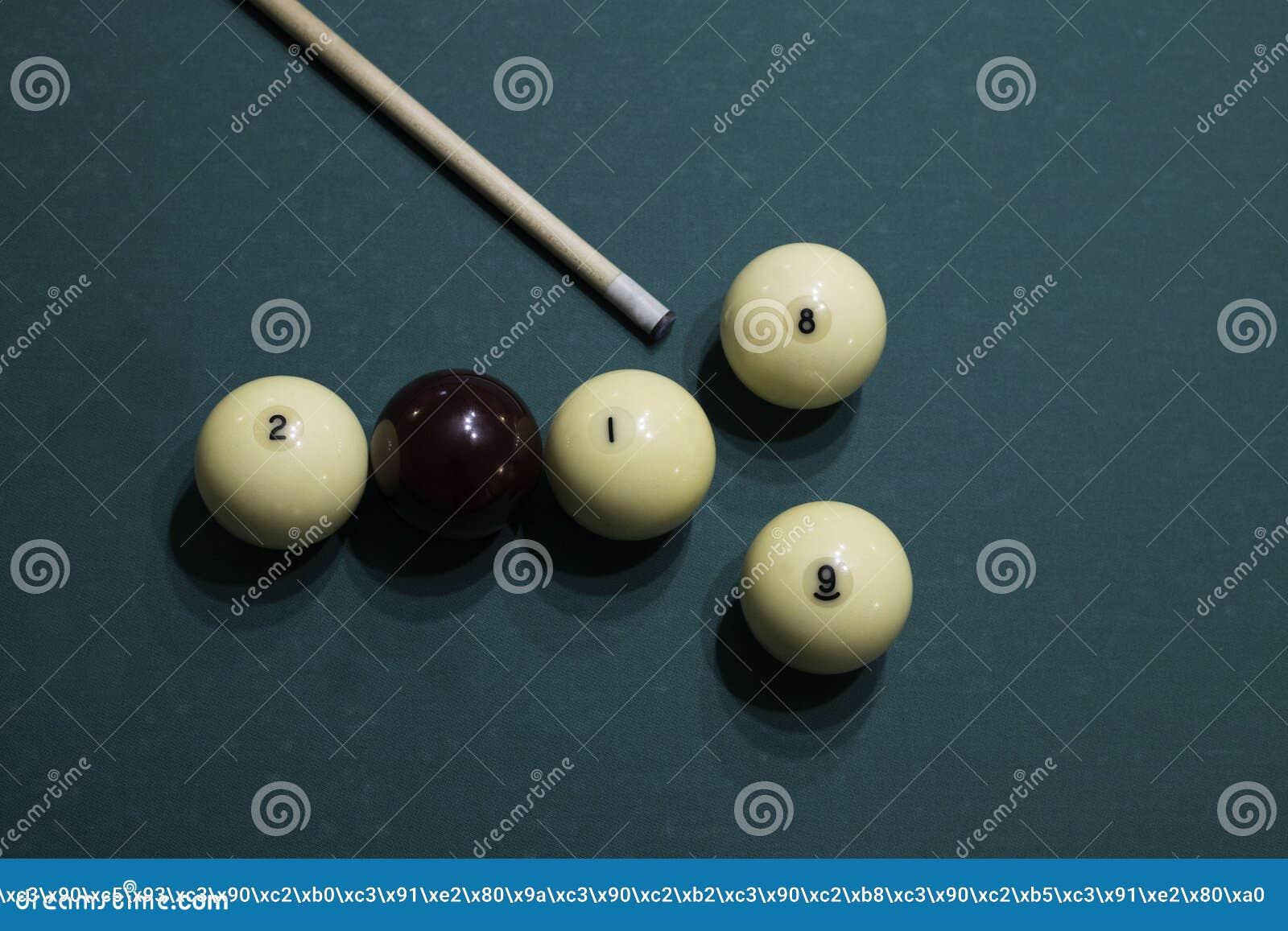 Bolas de billar y señal Número 2018 y 2019 de bolas de billar