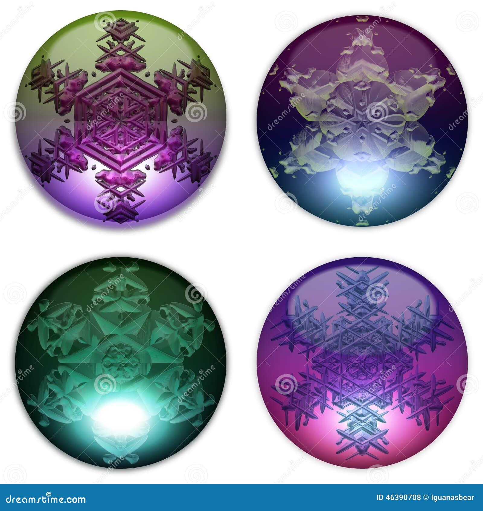 Bolas de cristal decorativas fijadas stock de ilustraci n - Bolas de cristal personalizadas ...