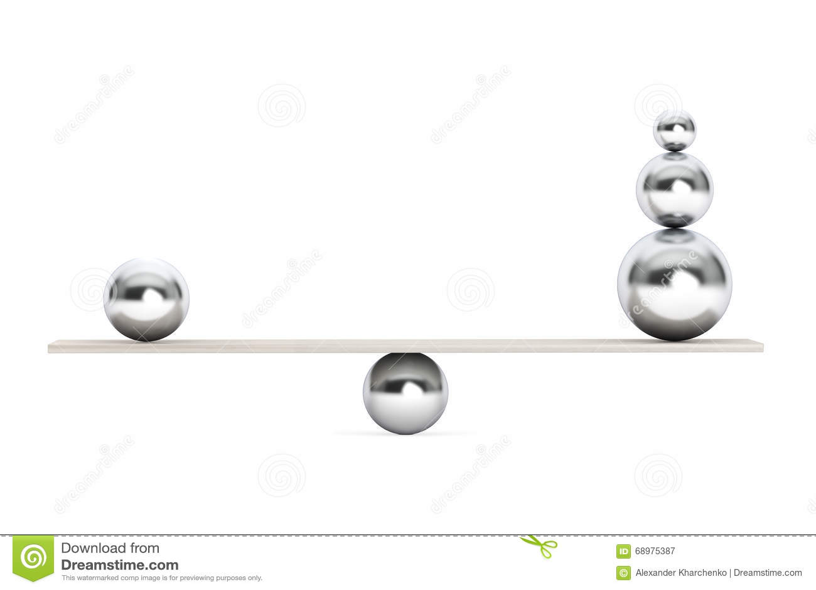 Bolas de equilibrio de Chrome sobre el tablero de madera