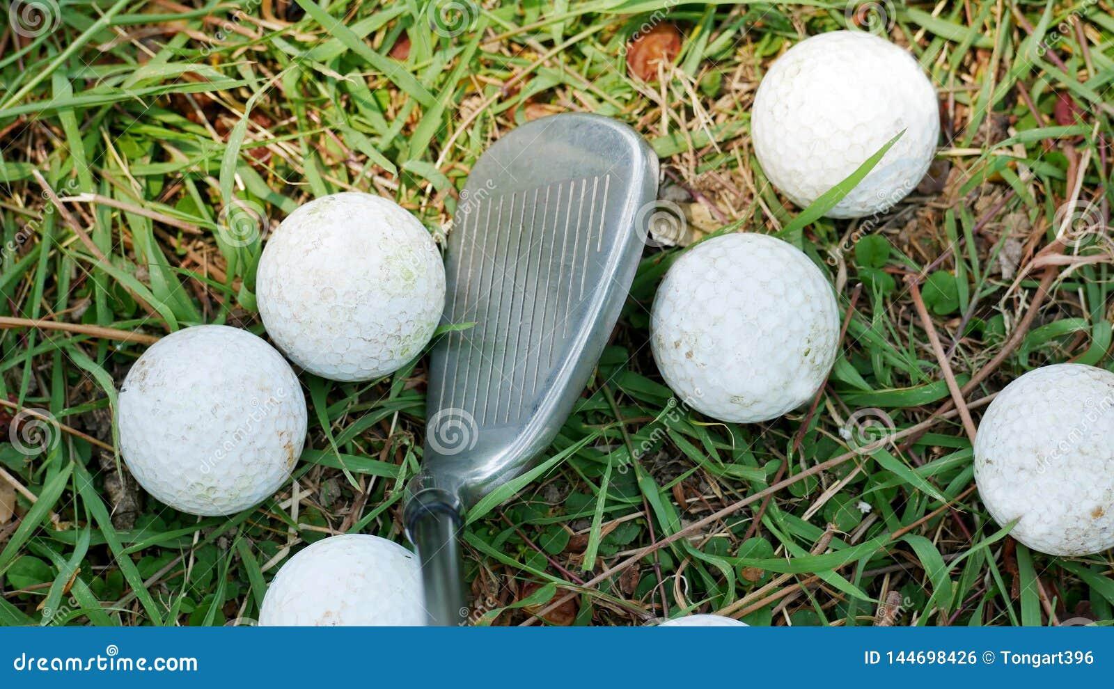 Bolas de golfe que são colocadas