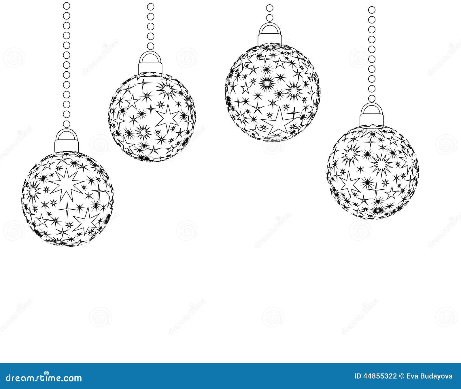 Download Bolas de la Navidad stock de ilustración. Ilustración de tiempo - 44855322