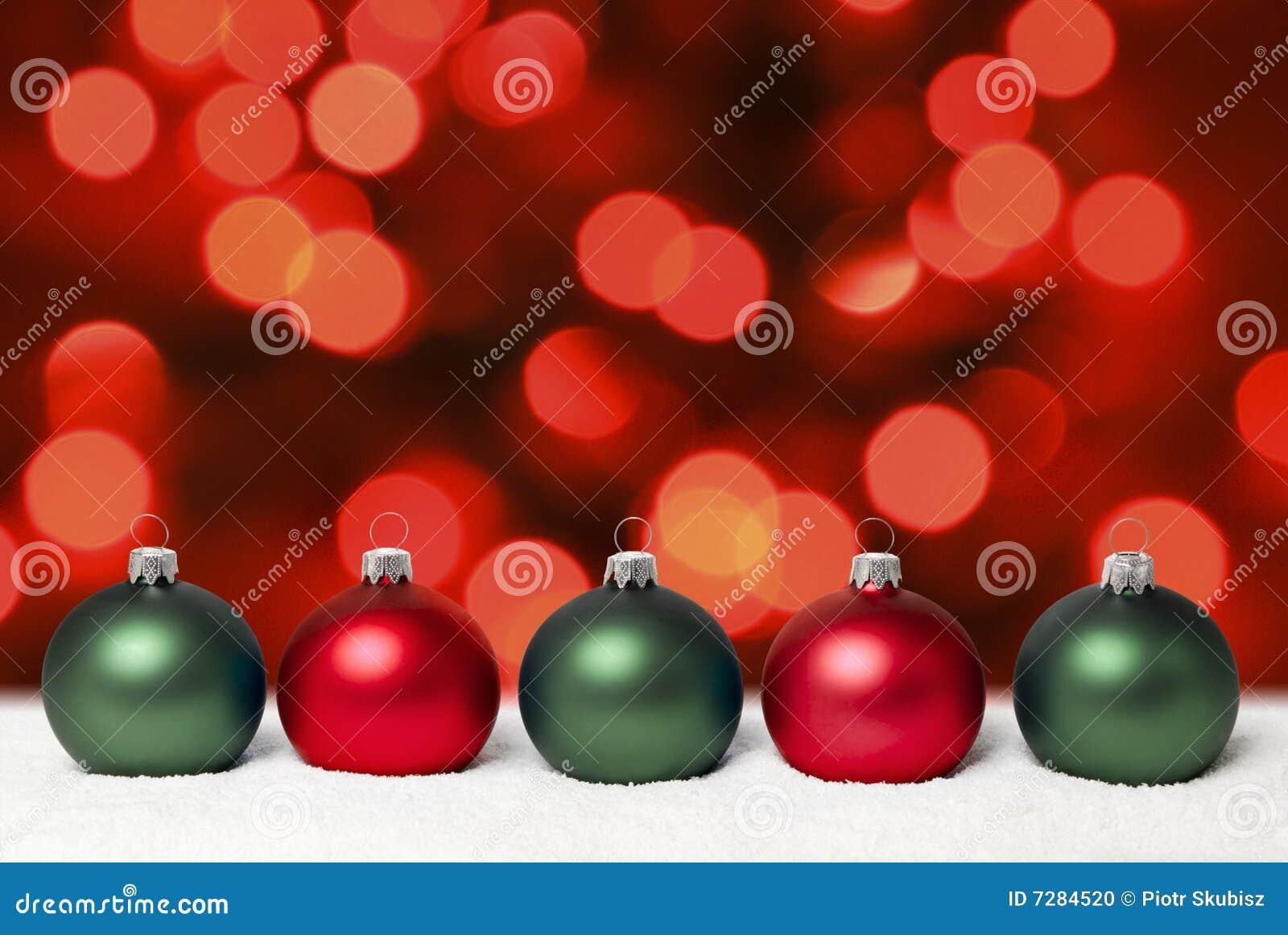 Bolas de la Navidad.