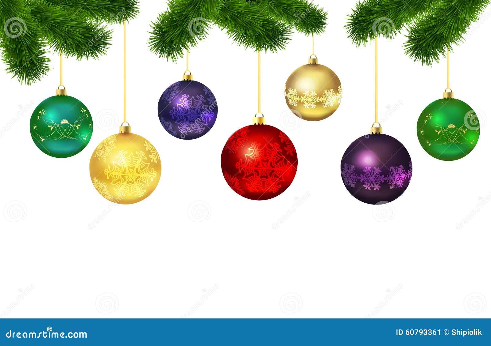 Bolas De La Navidad Con El Ornamento Marco Del Piel-árbol ...