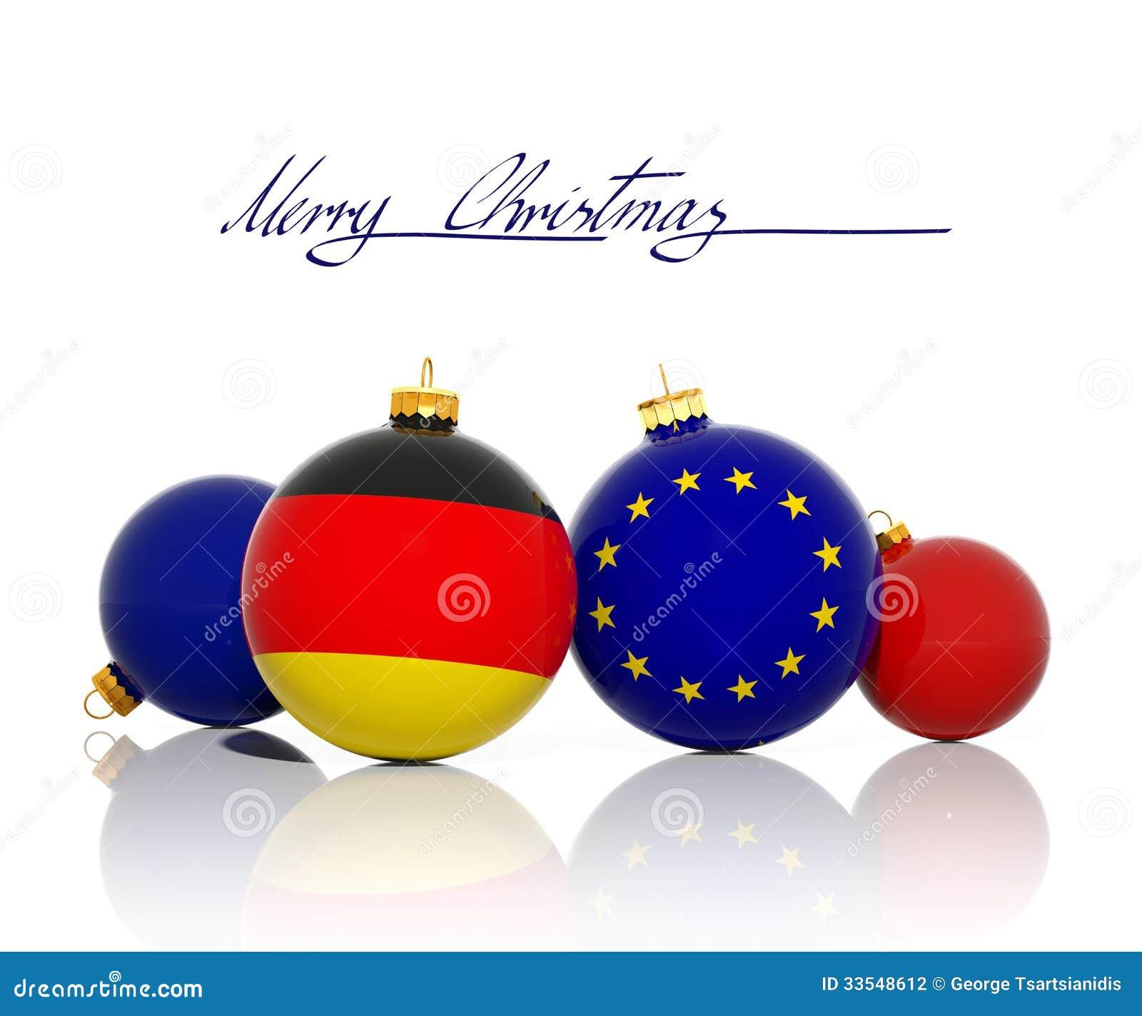 Bolas de la navidad con la bandera de la bandera alemana y - Navidades en alemania ...