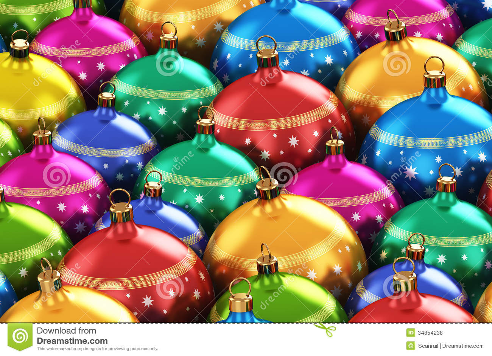 Bolas de la navidad del color fotos de archivo libres de for Imagenes de bolas de navidad