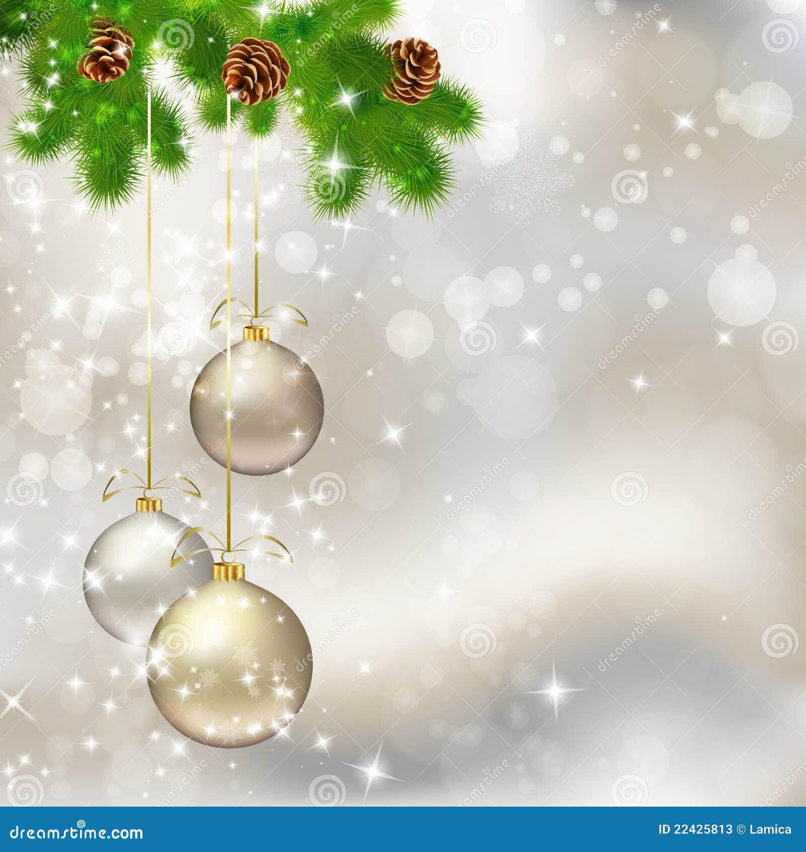 Bolas de la navidad en fondo gris claro abstracto for Dibujos de navidad bolas
