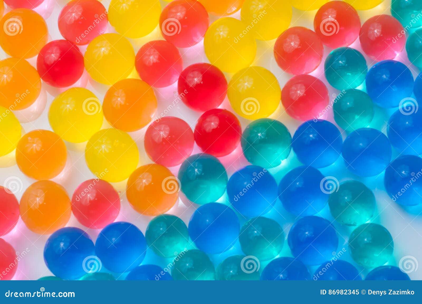 a72e882c2 Bolas Del Color Del Gel Del Polímero Imagen de archivo - Imagen de ...