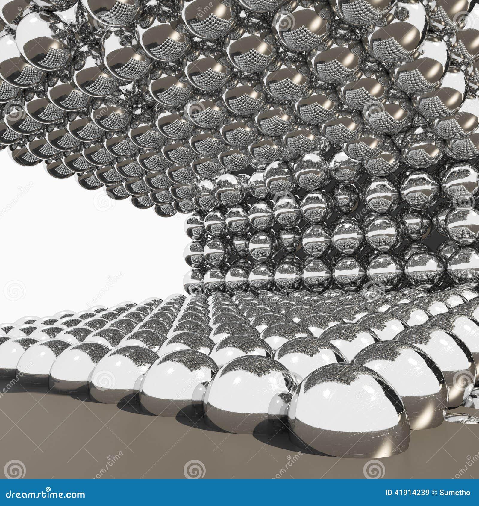 Bolas del cromo 3D