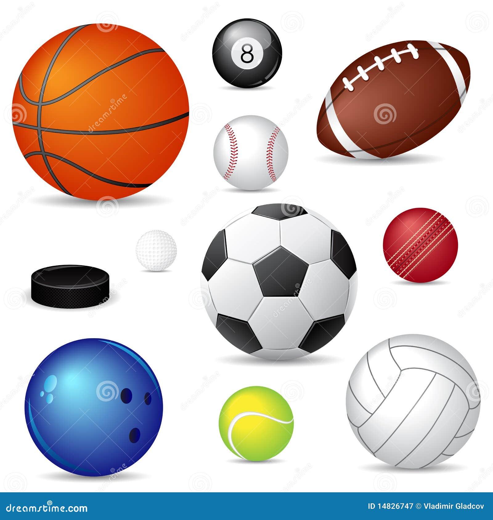 Bolas del deporte del vector