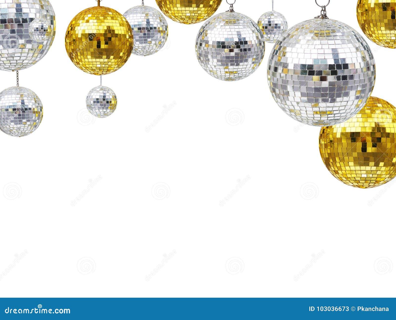 Bolas do brilho do disco por feriados do Natal ou do ornamento do ano novo