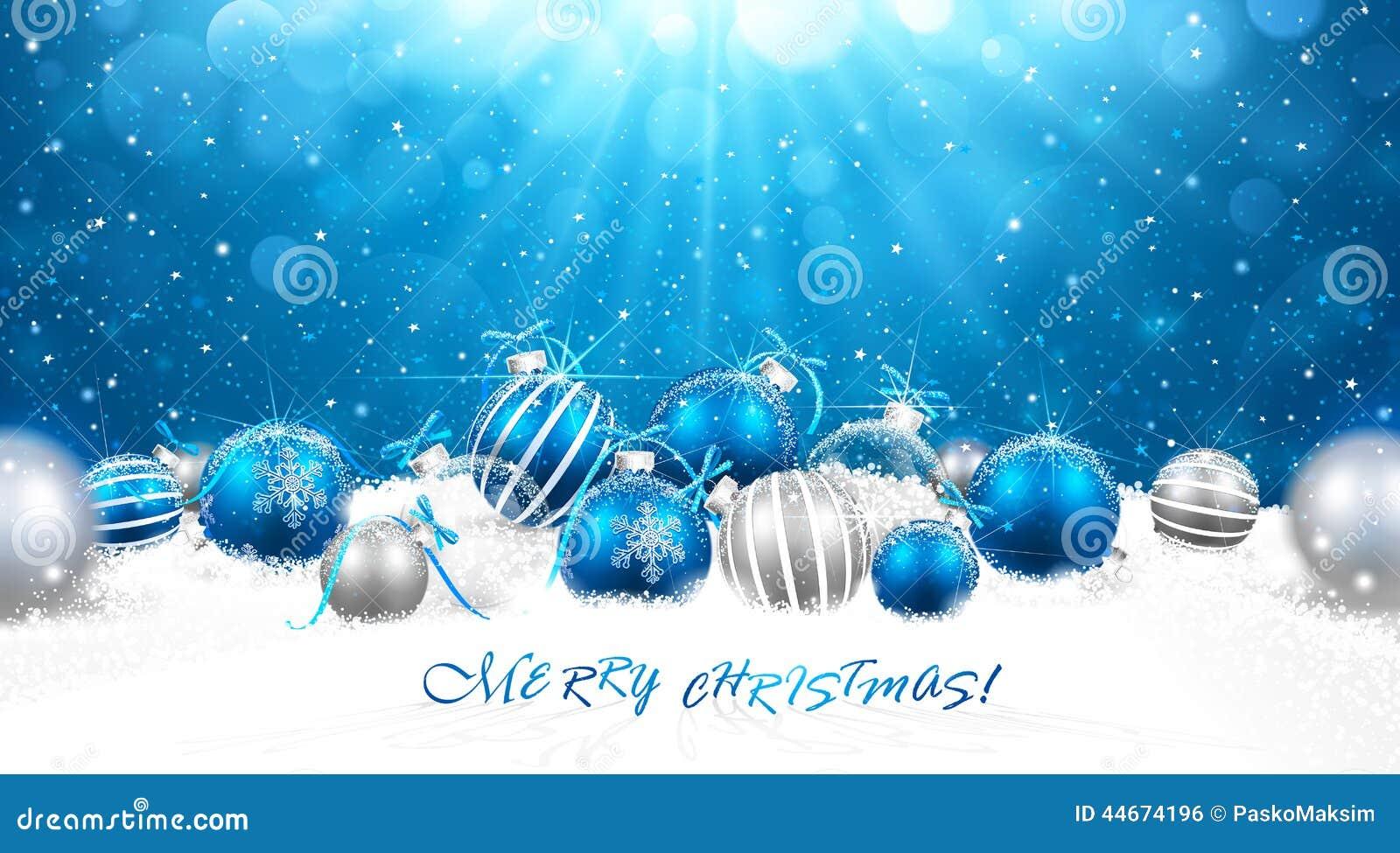 Bolas do Natal na neve