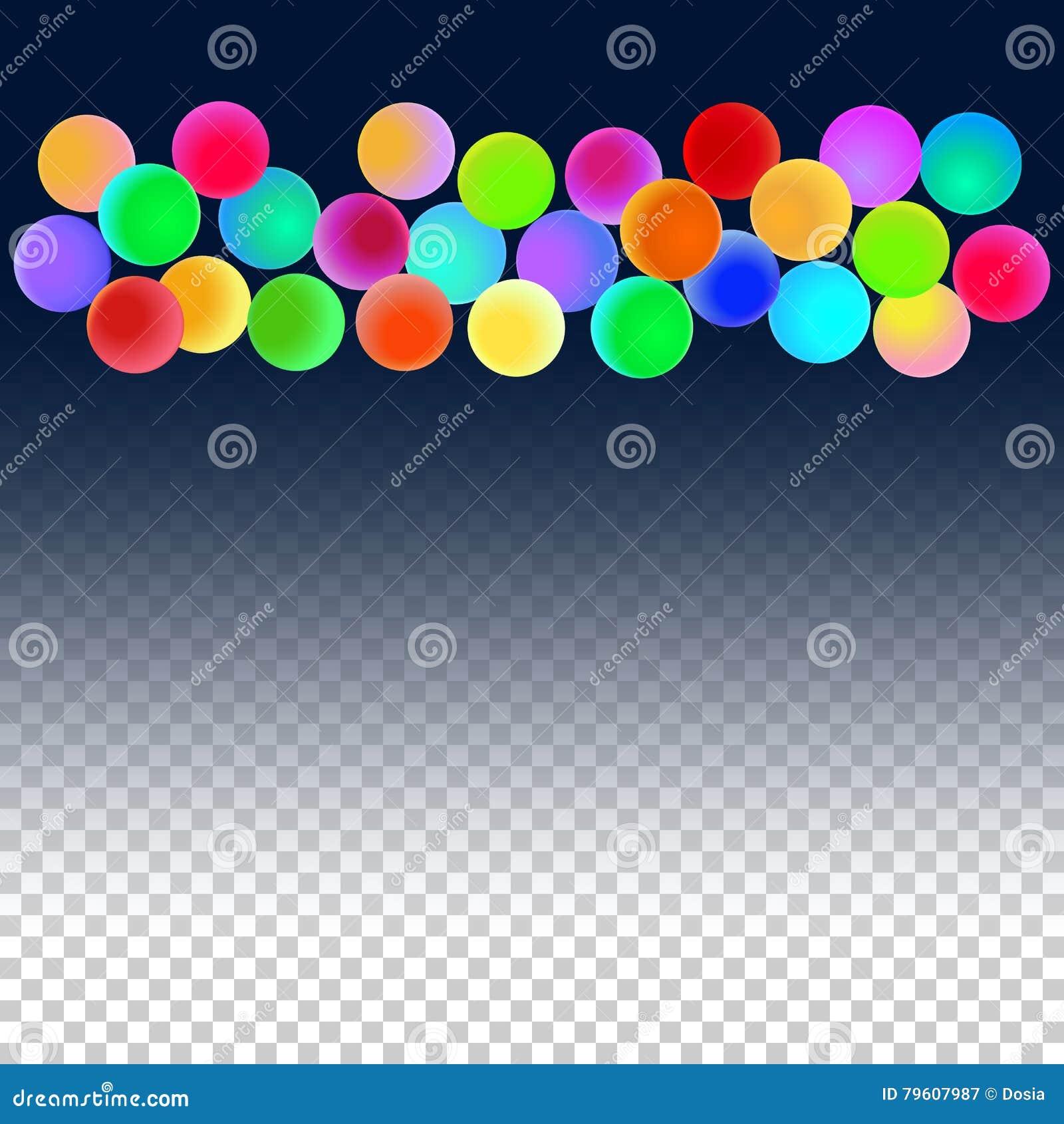 Bolas festivas para o projeto