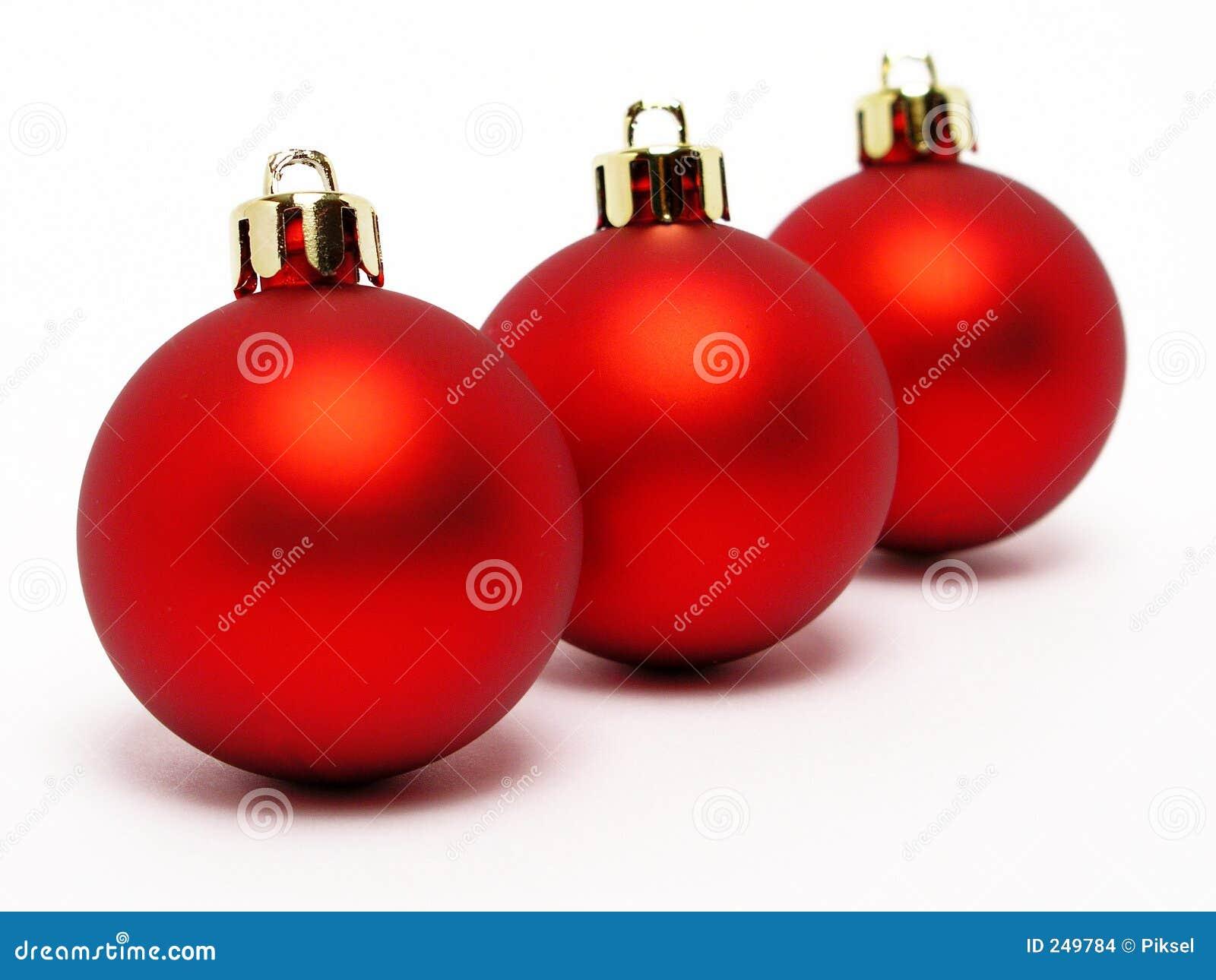 Bolas rojas de la navidad imagenes de archivo imagen 249784 - Bolas de navidad rojas ...