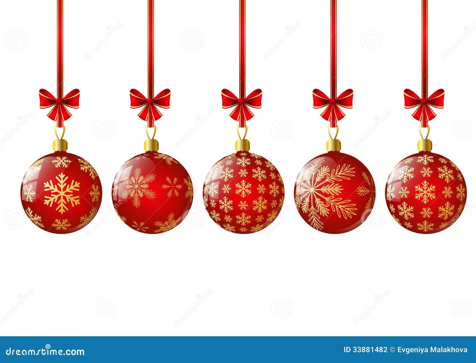 Bolas rojas de la navidad fotograf a de archivo imagen - Bolas de navidad rojas ...