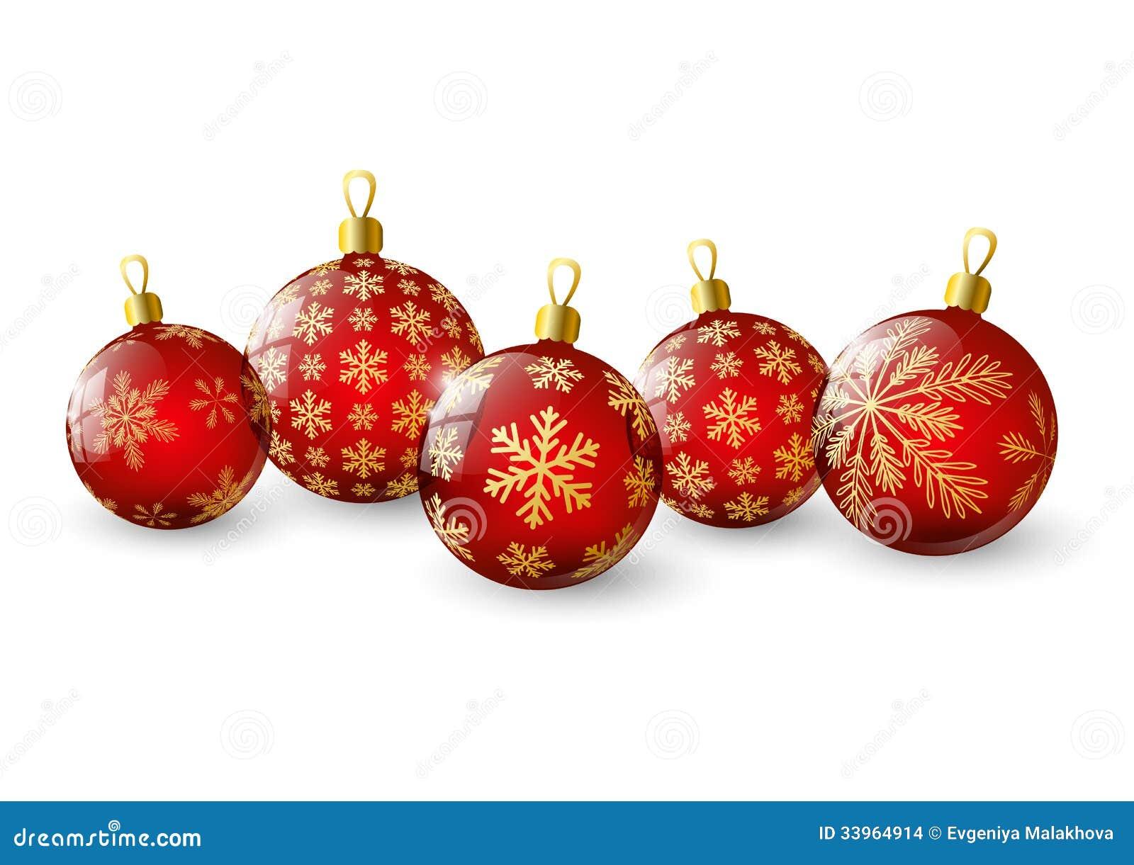 Bolas rojas de la navidad imagenes de archivo imagen - Bolas de navidad rojas ...