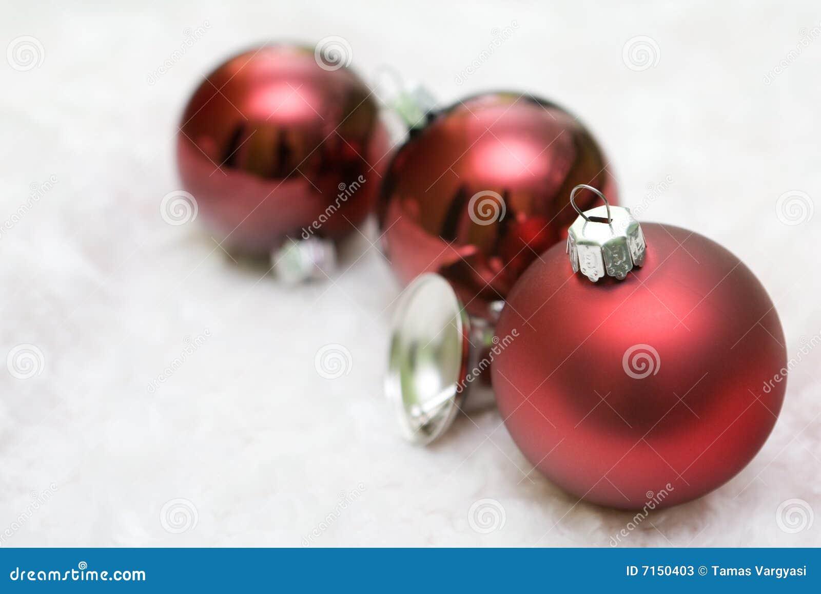 Bolas rojas de la Navidad