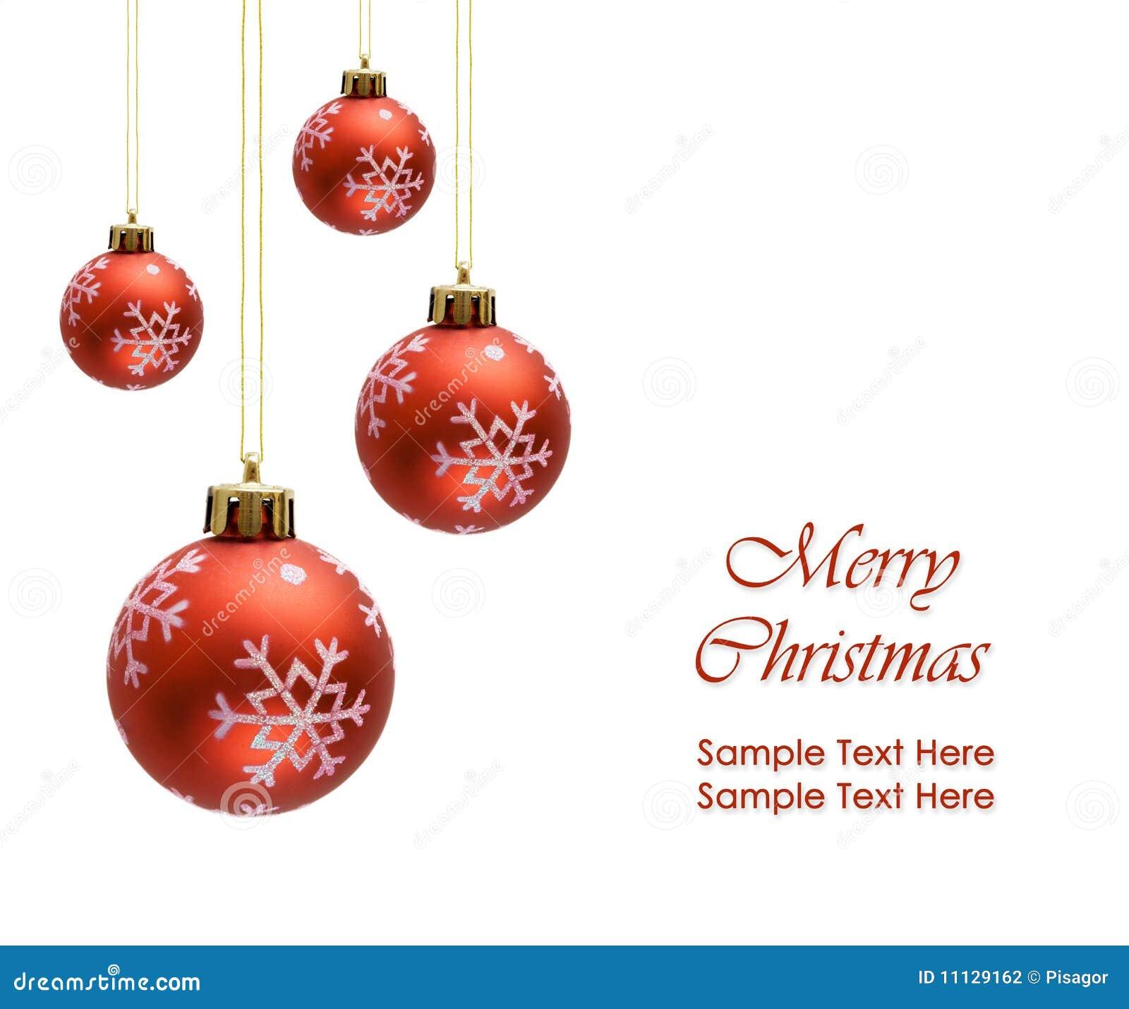 Bolas rojas de la navidad sobre el fondo blanco fotograf a - Bolas de navidad ...