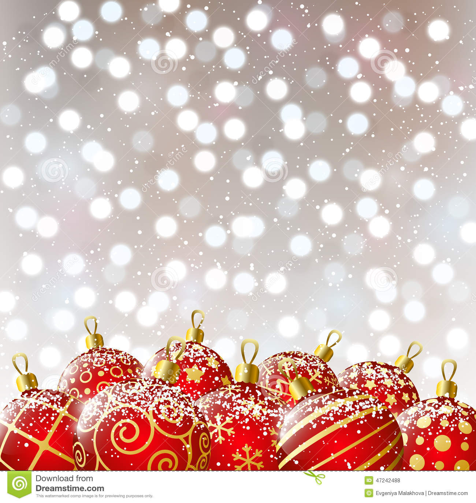 Bolas rojas de navidad en fondo del bokeh ilustraci n del - Bolas de navidad rojas ...
