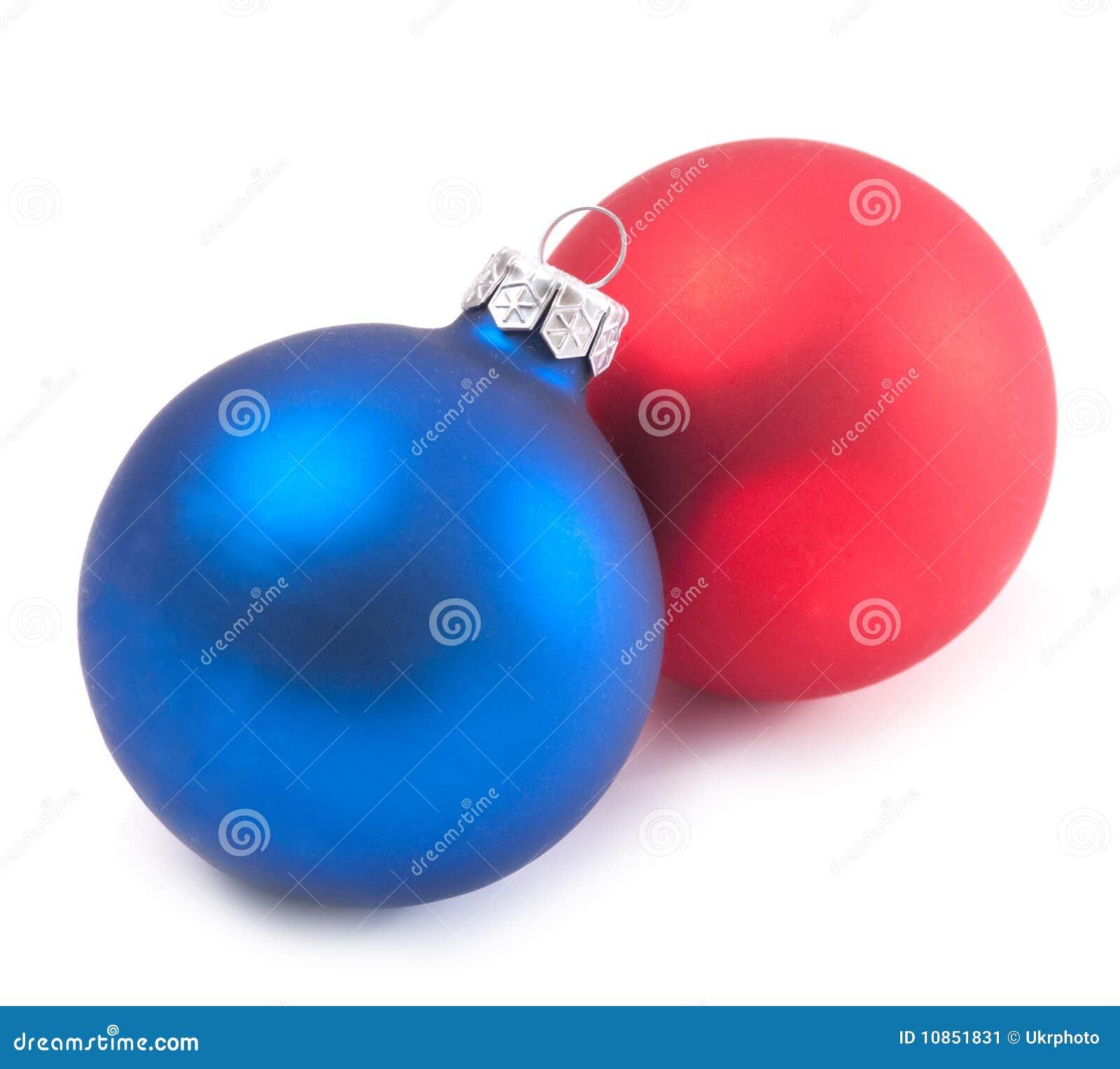 Bolas rojas y azules de la navidad imagen de archivo - Bolas de navidad rojas ...