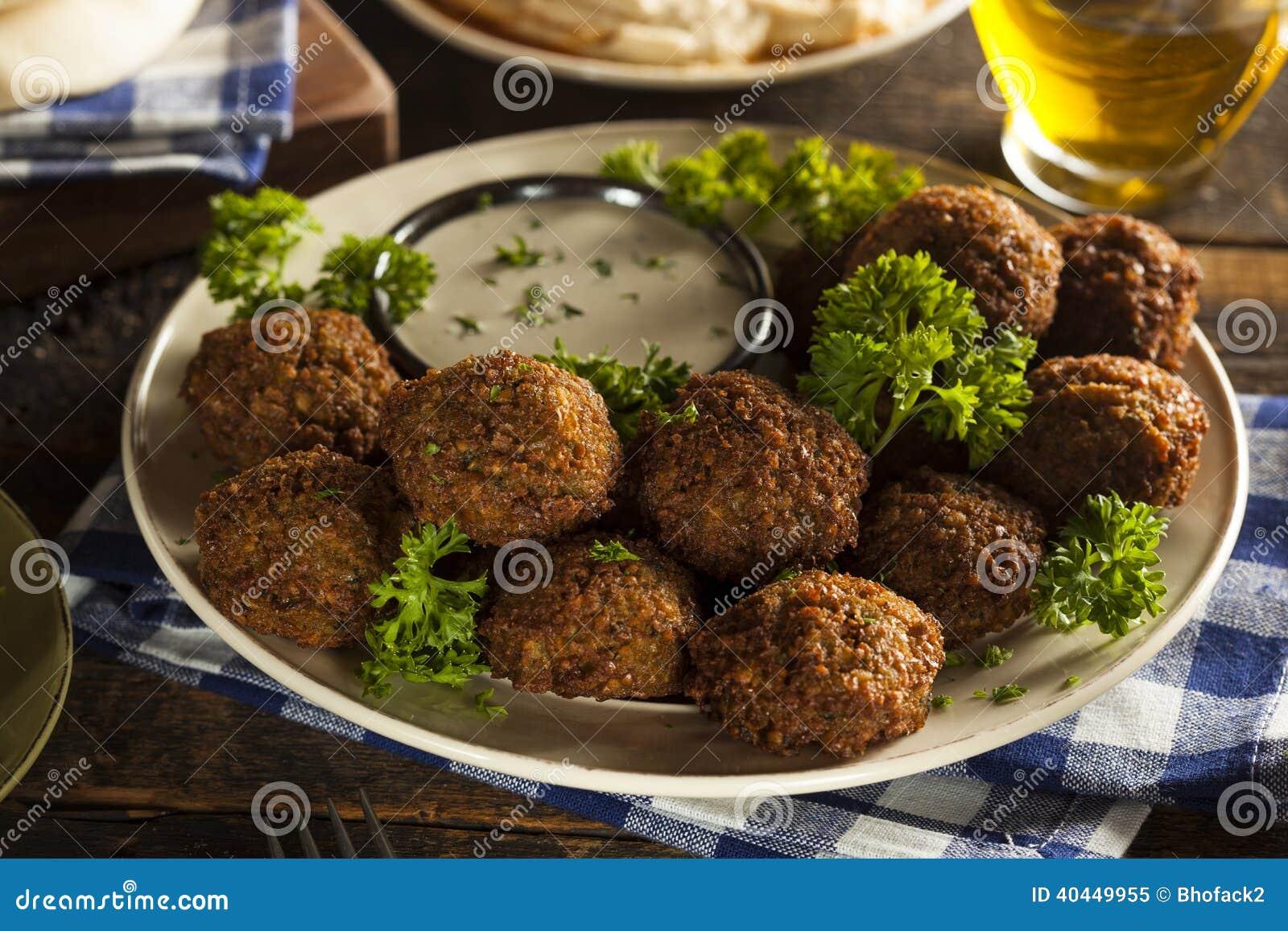 Bolas saudáveis do Falafel do vegetariano