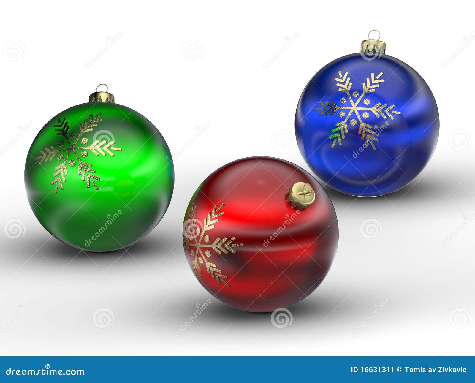 Bolas verdes y azules rojas de la navidad imagen de - Bolas de navidad rojas ...