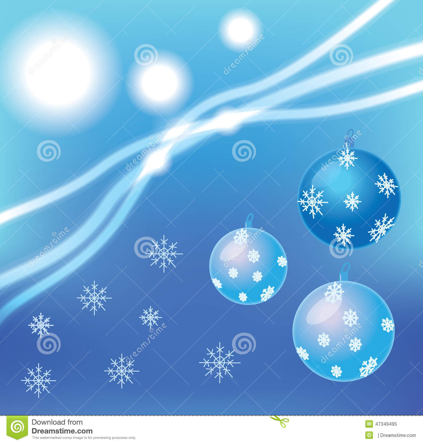 Bolas y copos de nieve