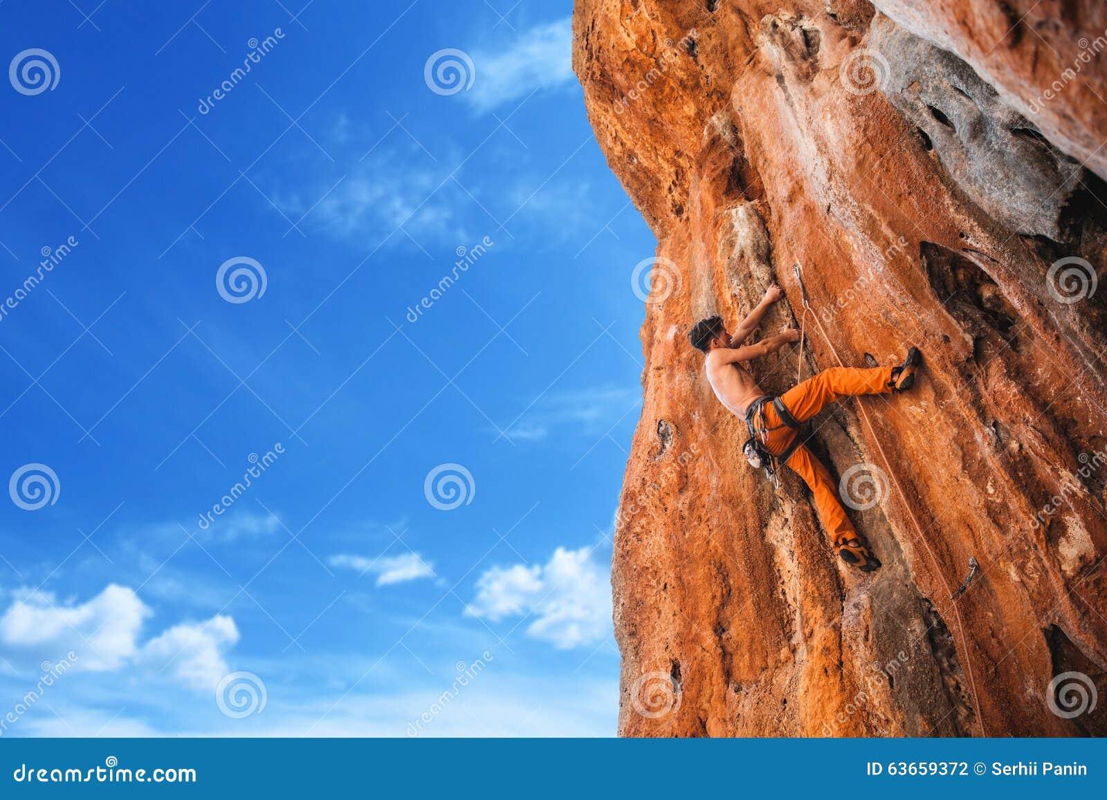 Bold choice - rock climbing
