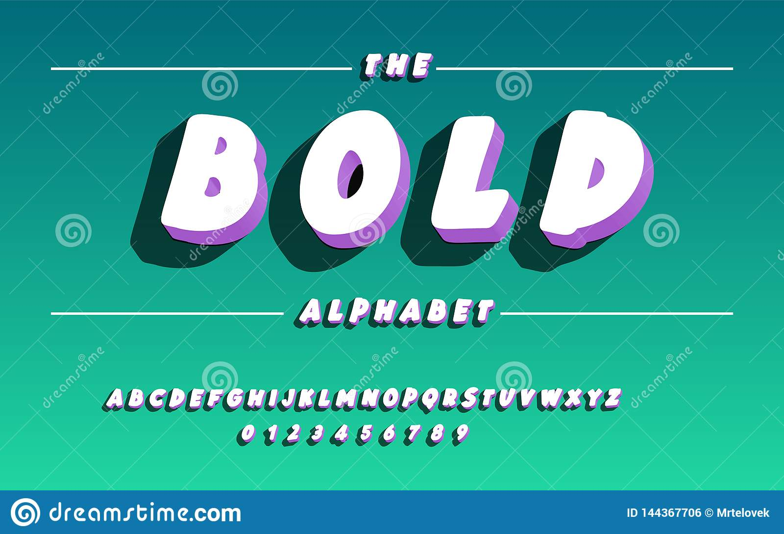 Bold Font Latin Alphabet With Shadow Stock Vector Illustration Of Graphic Typeface 144367706