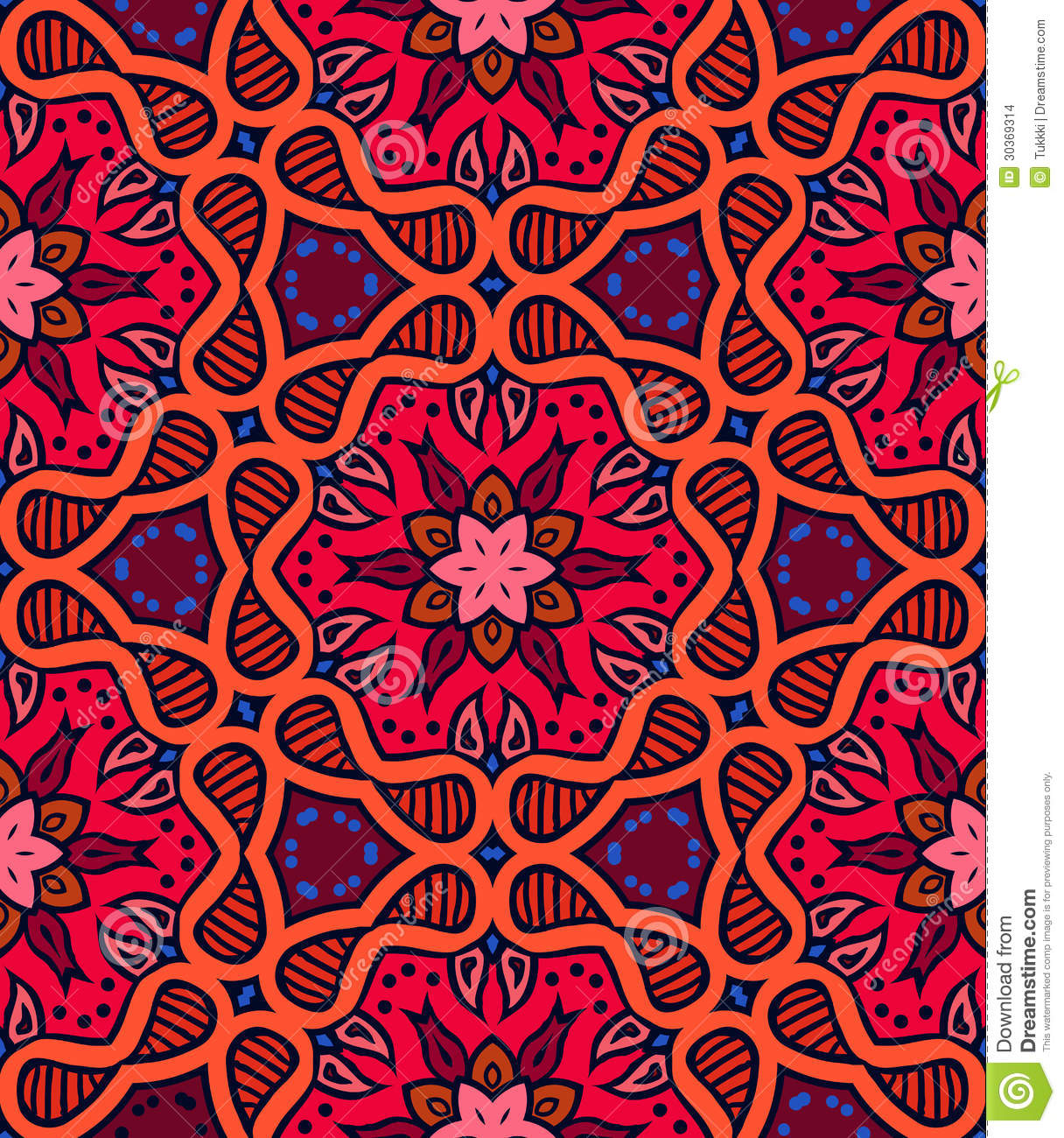 Crochet Home Decor Free Patterns Bold Pattern With Indian Motifs Stock Vector Image 30369314