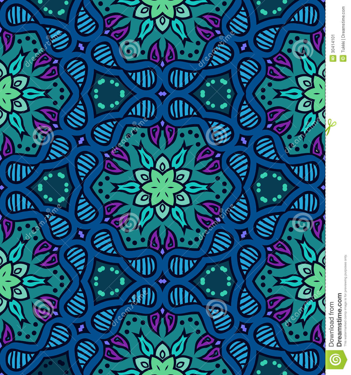 Bold Pattern With Indian Motifs Stock Image Image 30414101